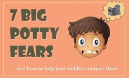 7 Big Potty Fears & How to Help Your Toddler Conquer Them [Infographic]